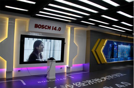 长沙博世企业展厅液晶拼接屏