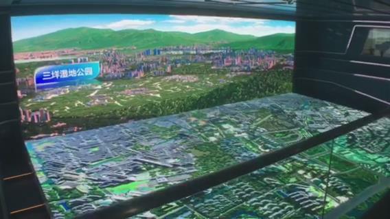温州城市规划馆L幕投影数字沙盘